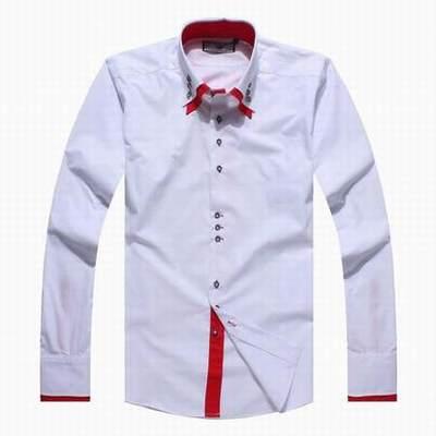 Chemise homme col italien poignet mousquetaire chemise blanche homme mariage chemise longue - Chemise rouge et noir homme ...